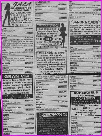 asociaciones prostitutas anuncios periodico prostitutas