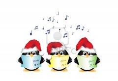 11572808-ping-inos-animados-de-invierno-vistiendo-sombreros-de-santa-y-cantando-villancicos-de-navidad-aislad