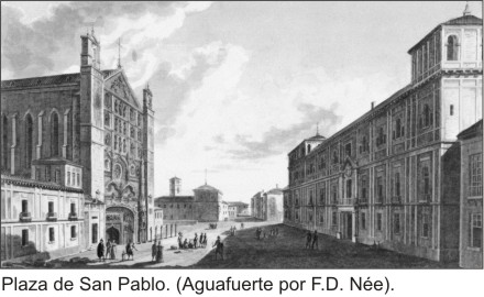 Palacio Real, propiedad del Duque de Lerma ubicado en la Plaza San Pablo. Valladolid.