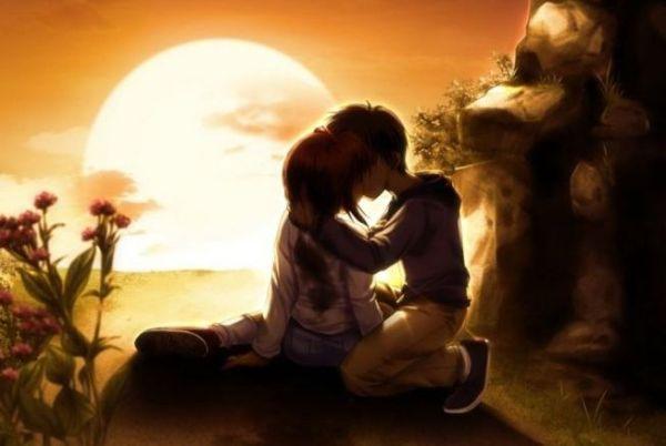 beso-en-la-puesta-del-sol,-dibujos-animados-de-pareja,-amor,-cueva-148720